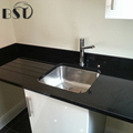 Prefab Black Artificial Quartz Stone Countertop