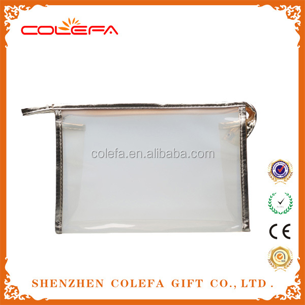 alibaba wholesale cheap designers leather+PVC transparent cosmetic bag