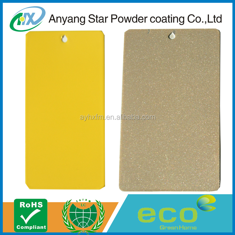 Anyang Star metallic electrostatic epoxy polyester windshield water repellent powder coating