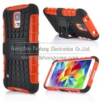 TPU+PC Dual Hybrid Case with Stand for Samsung Galaxy S4 mini