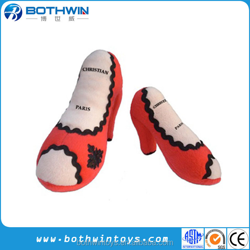 Pairs Christian Plush Dog Shoe Toy