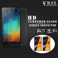 Latest model!!! Brand Vmax 2.5d round edge 9H Tempered glass screen protector for Redmi note 3
