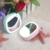 New cosmetic mirror light rechargeable battery led lighted makeup mirror with led light