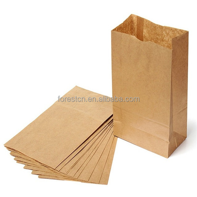 shipping bag Biodegradable Printed Brown Paper food Bag