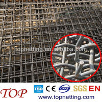 50 mm Aperture/Opening Crimped wire mesh/ Quarry screen