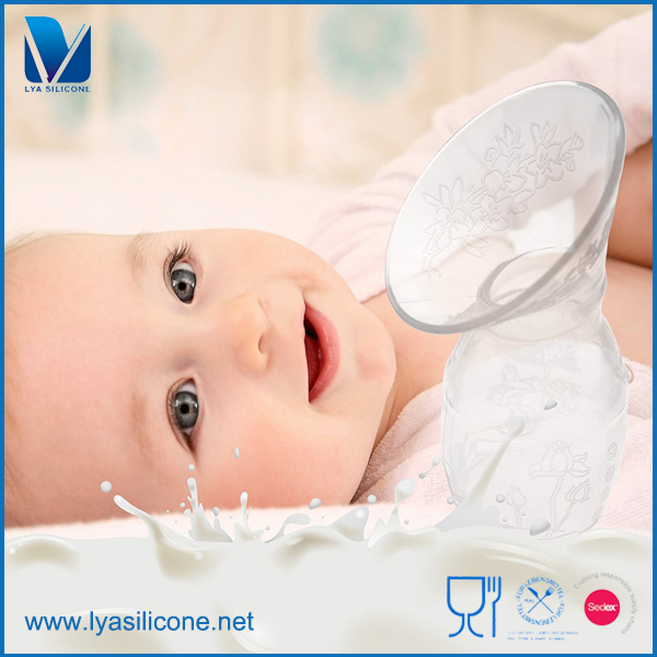 Custom Human Body Safe And Soft Milk Collector Silicone Breast Pump