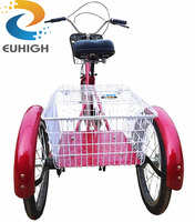 shopping 3 wheel tricycle cargo bike for elder people