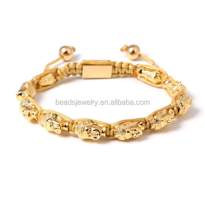 2016 Top Sales& High Quality 18K Gold Plated Bangles Buddha Head Bracelet Jewellery