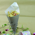 Disposable oil-proof paper chips packaging paper cone