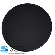 Top quality 5mm black lacquer glass coffee table top