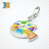 silver plating print promotion custom key chain