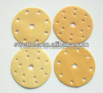 self-adhesive Gold Abrasive Disc for autobody machine