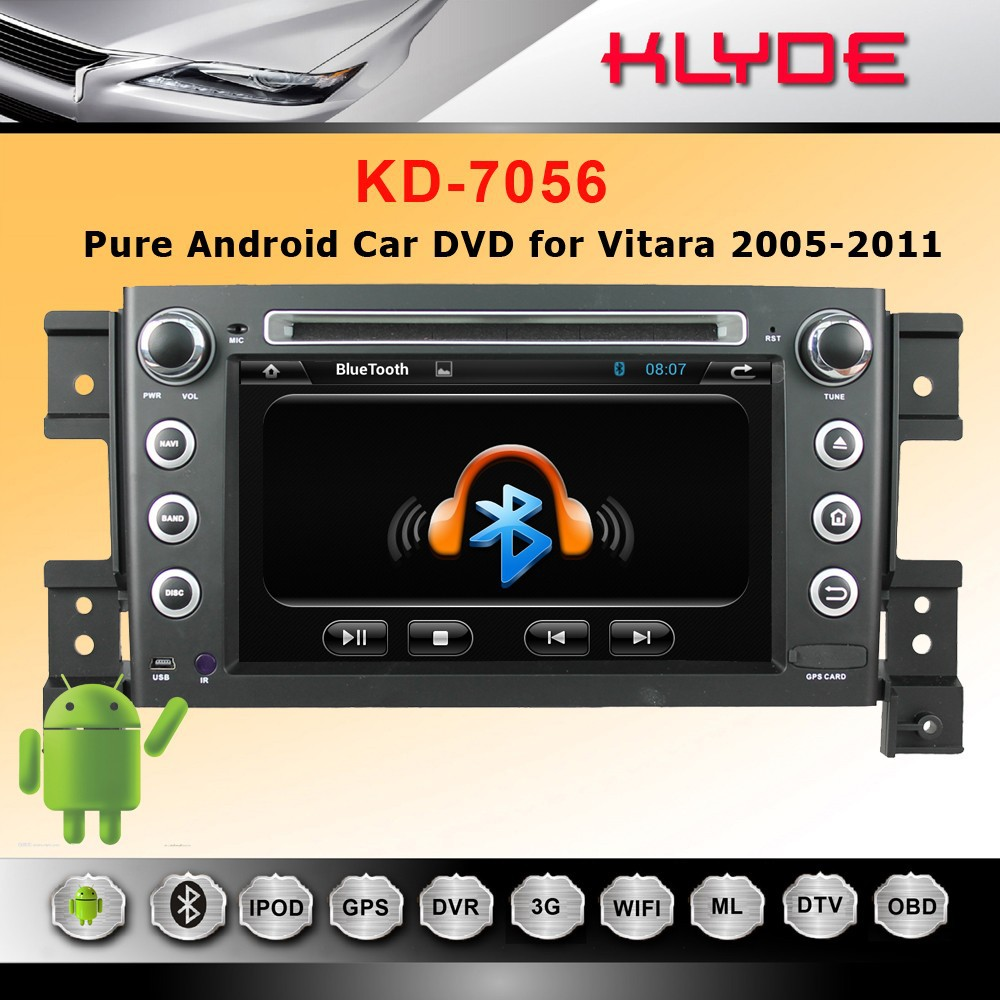special 2 din GPS 3G BT Radio AUX IN car dvd for grand vitara