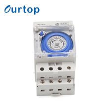 OURTOP 24 Hour Easy Programmable Time Delay 3 Modules Width 16A Mechanical Timer Switch