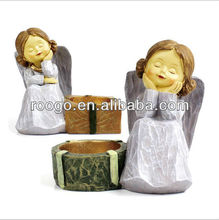 resin angel European style decorative wedding candle holder home decoration