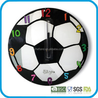 art decorative tempered glass wall clock
