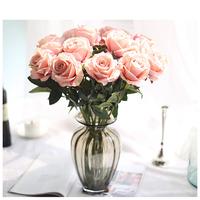 Wedding Home Decorative Handmade Single Artificial Silk Rose Flower for Wedding Fake Flower Centerpiece
