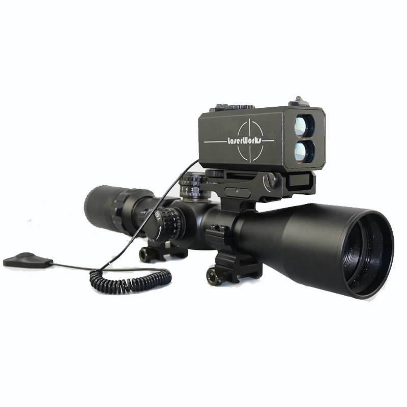 Hot Selling LE-032 LaserWorks Rifle scope 700m rangefinder airsoft laser range finder with Horizontal Distance/Bow Mode