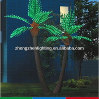 Outdoor decoration led palm tree light,led coconut palm tree light