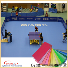 cheap sports flooring for basketball Table tennis court wholesale antislip durable pvc vinyl flooring rolls/mat