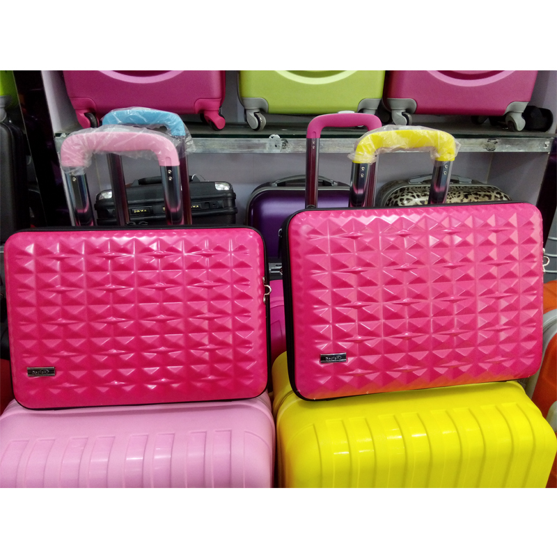 14 inch 8 pure colors laptop case mini trolley case ABS suitcase