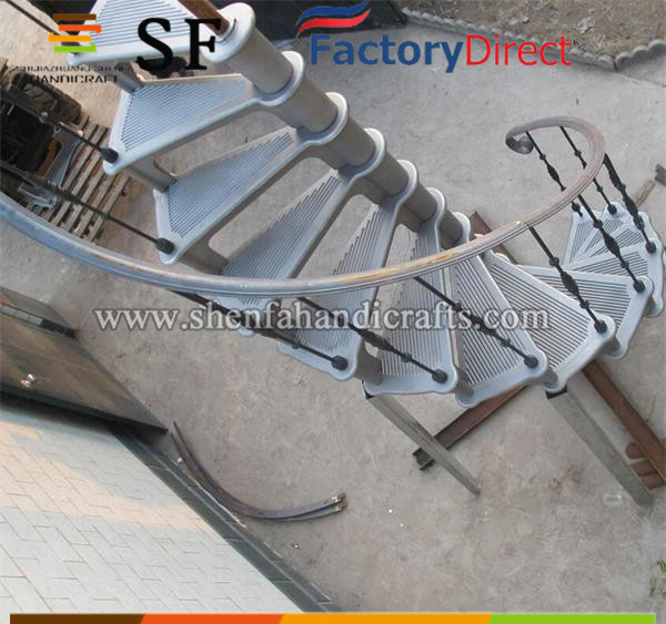 outdoor wrought iron spiral staircase, steel stair