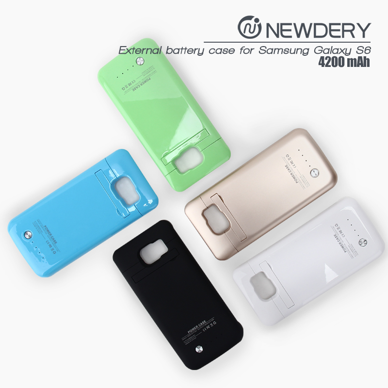 case smartphone Ultra thin Power Bank Mobile Battery Case For Samsung Galaxy S6 Charging Case