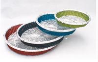 Round Beaded Aluminum Basket , Colorful Storage Basket , Wedding Decoration Basket