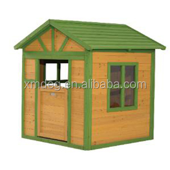 Wooden outdoor furniture natural Kid's wood playhouse wooden children playhouse
