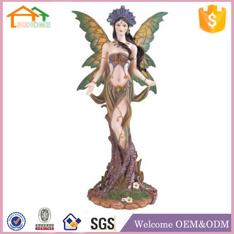Factory custom made garden decor sexy polyresin fairy figurines wholesale
