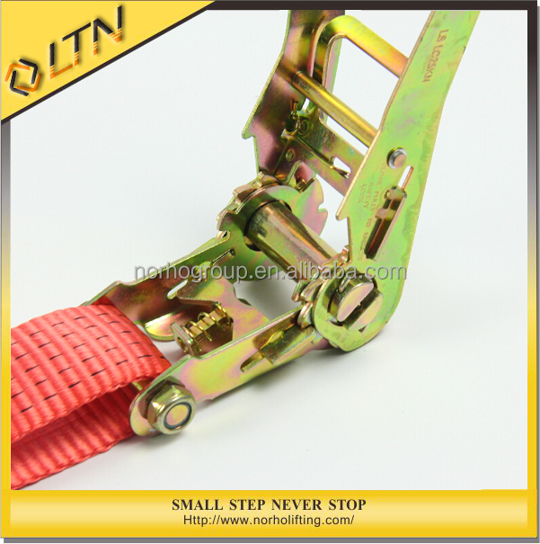 Top selling high quality 5T Heavy Duty Rachet Tie Down/Ratchet Strap With Hook (Double J Hook)