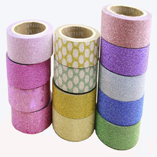 Hot Sales Glitter Floral Gift Packaging Decorative Adhesive Tape