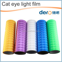 Waterproof Various Sizes Colors 3D cat eye car front light stricker / headlight vinyl wrap film with low price