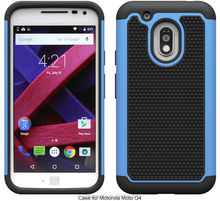 Triple layers skidproof defender hybrid case for Motorola G4 Play