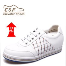 Latest cheap white fashion leather men sport shoes
