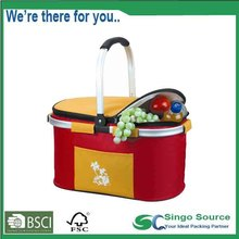 New Style Insulated Picnic Cooler Basket Bags with aluminum frame