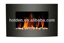 CE 750W/ 1500W electric fireplace with pebbles LED fuel effect