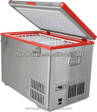 60L car freezer stainless steel cabinet DC12V 24V portable battery and solar car freezer & fridge/mobile frezer/rv freezer
