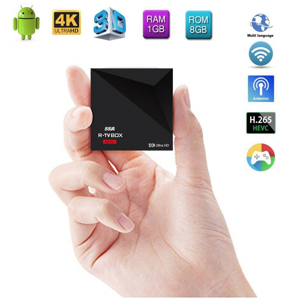 New Mini Smart TV Box Rockchip RK3229 Android 5.1 OTT TV Box Ko-di 16.1 Android Box Support 3D 2.4G WIFI 4K and H.26