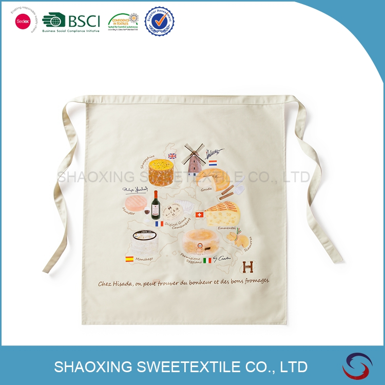 Best Quality New Products Customized Customized Plain White Aprons Cotton
