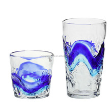 high quality fancy decorative drinking glass cup