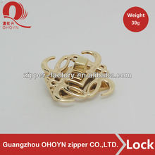 factory handbag square turn lock hardware metal bag twist turn lock for bag
