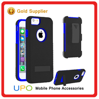 [UPO] Wholesales Shockproof Rugged Protective Hard PC Back Cover Case for iphone 6 6s with Kickstand