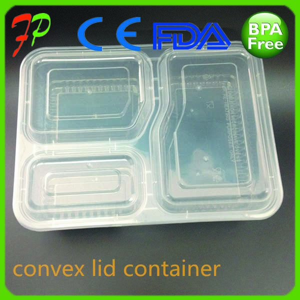 houseware Plastic Food packaging transparent microwave round container