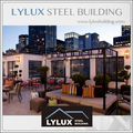 Steel sturcture prefabricated star hotel terrace for public leisure area