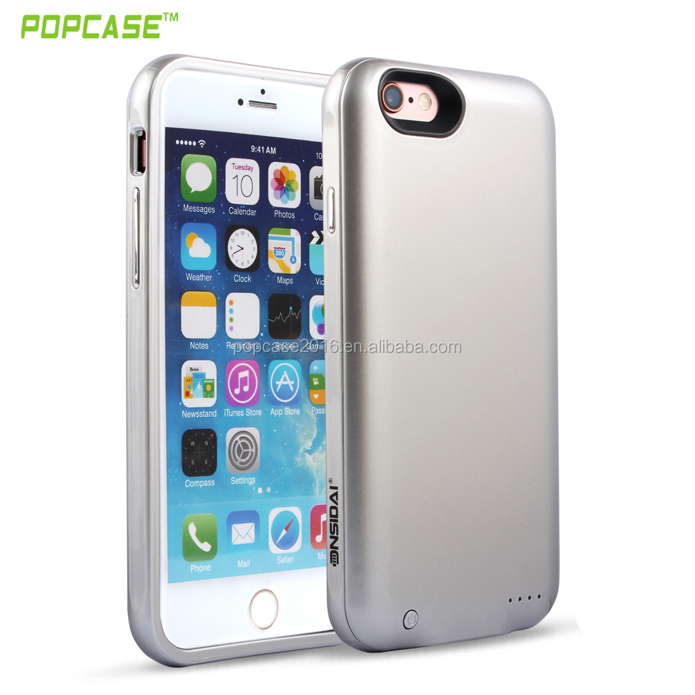 New design 3000mAh rechargeable battery charger case for iPhone 6 plus