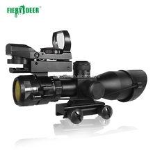 FIERYDEER Tactical Laser Sight Scope Military Airsoft Red Laser Riflescope With Green Film For Gun Rifle Hunting equipment