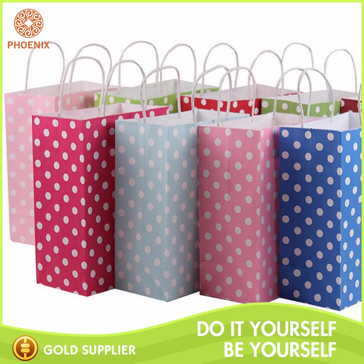 Flat Vellum Kraft Handle Paper Grocery Bag
