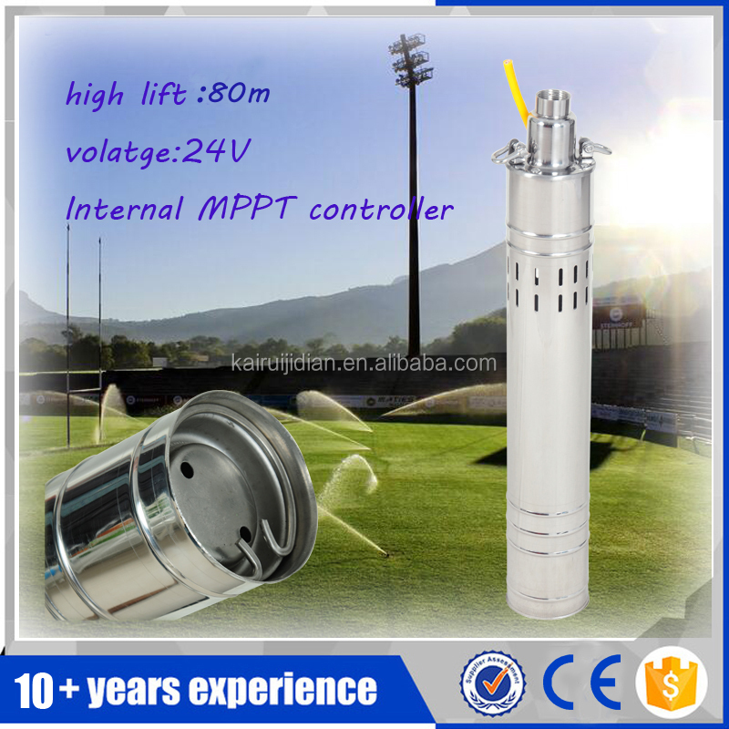 free shipping!!3.5 inches 1 hp 30GPM 24v dc solar submersible water pump for irrigation
