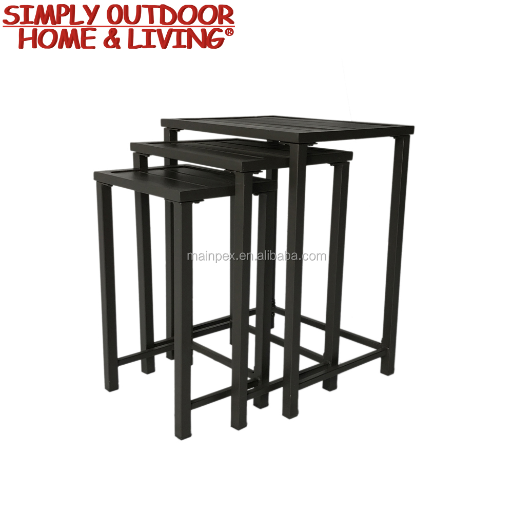 Hot Sale 3 Piece Steel Frame Indoor Bar Furniture Bar Table